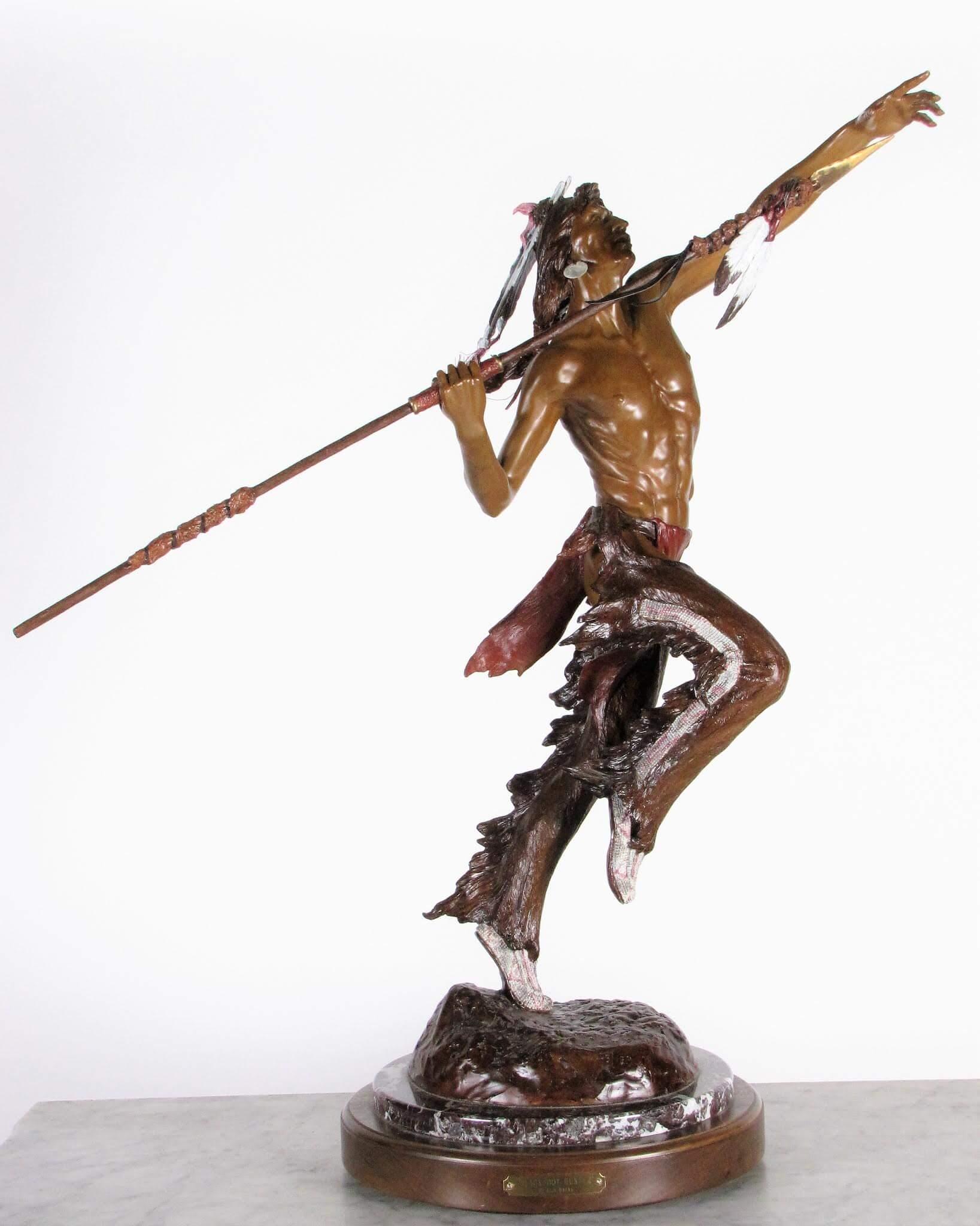 "May 30 Online Gallery Auction- Elie Hazak ""Blackfoot Hunter"", 32″h"